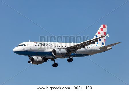 Airbus A319 Of Croatia Airline