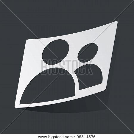 Monochrome contacts sticker