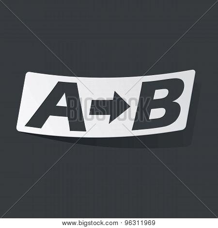 Monochrome A to B sticker