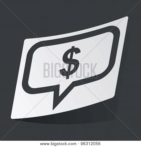 Monochrome dollar message sticker