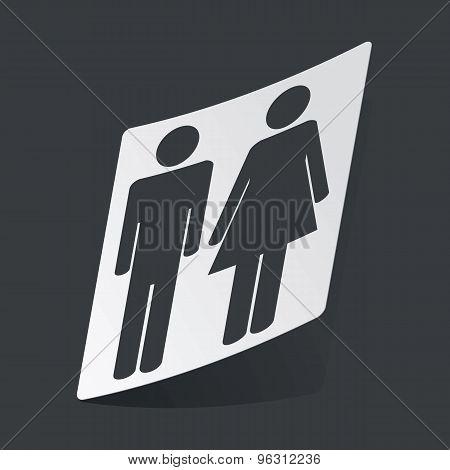 Monochrome man and woman sticker