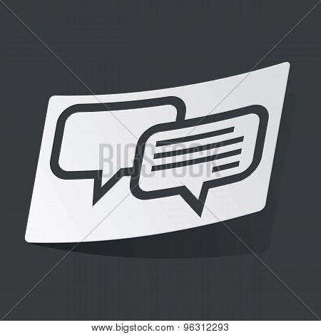 Monochrome chatting sticker