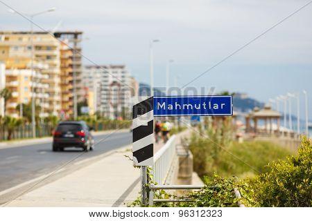 Road Sign On Seaside Street