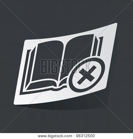 Monochrome remove book sticker