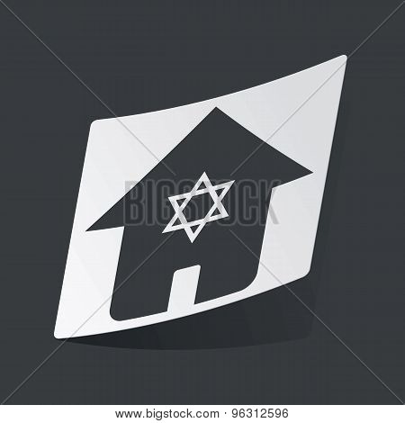 Monochrome jewish house sticker