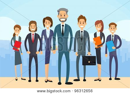 Business People Group Diverse Team Vector