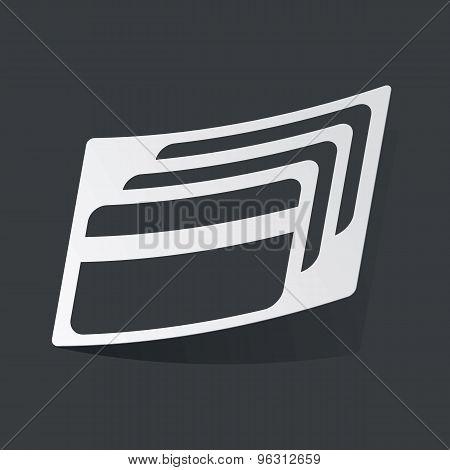 Monochrome credit card sticker