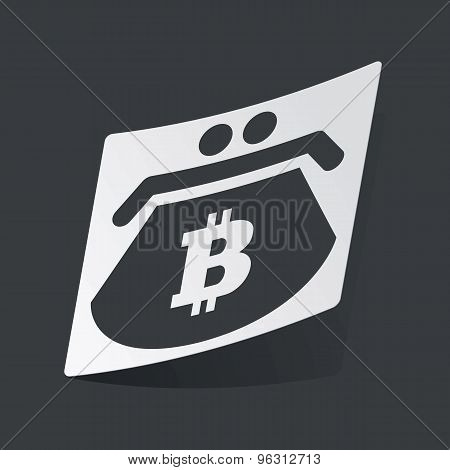 Monochrome bitcoin purse sticker