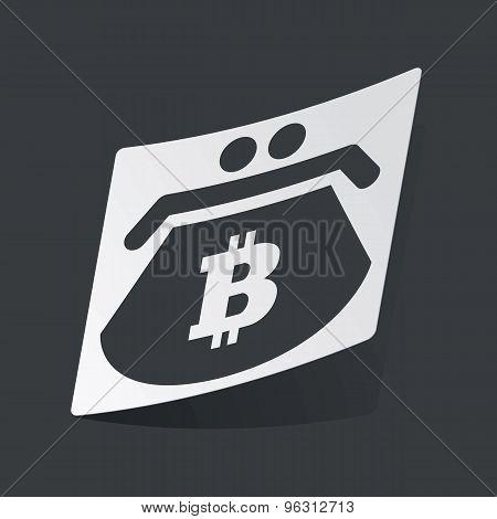 Monochrome bitcoin purse sticker
