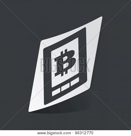 Monochrome bitcoin on screen sticker