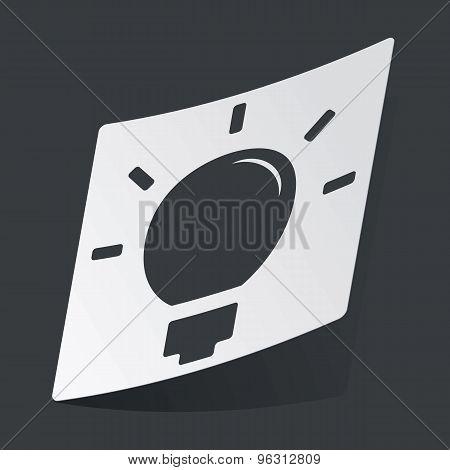 Monochrome light bulb sticker