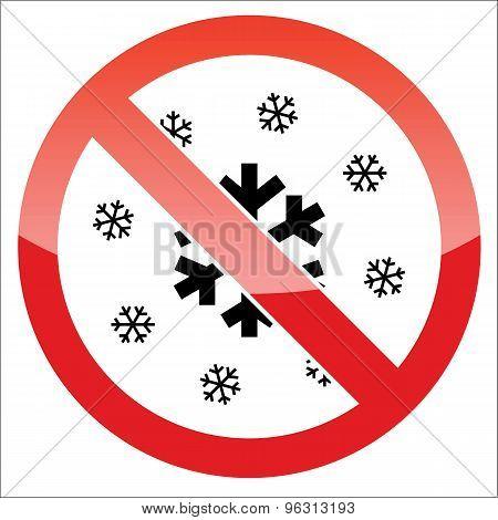 Snow forbidden icon