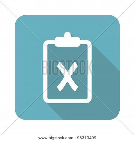 Square clipboard NO icon