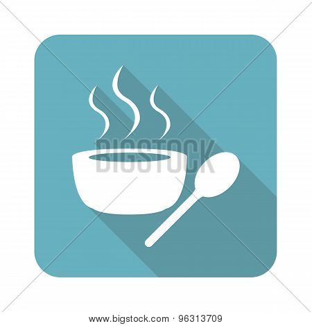 Square hot soup icon