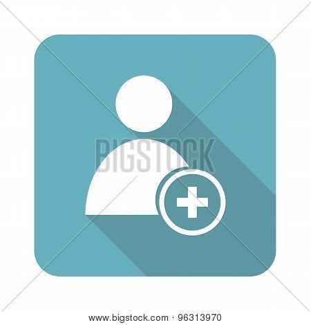 Square add user icon
