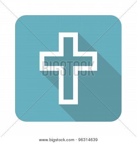 Square christian cross icon