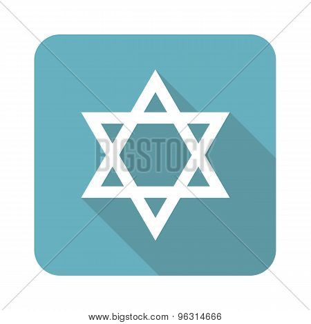 Square Star of David icon