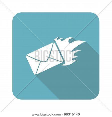 Square burning letter icon
