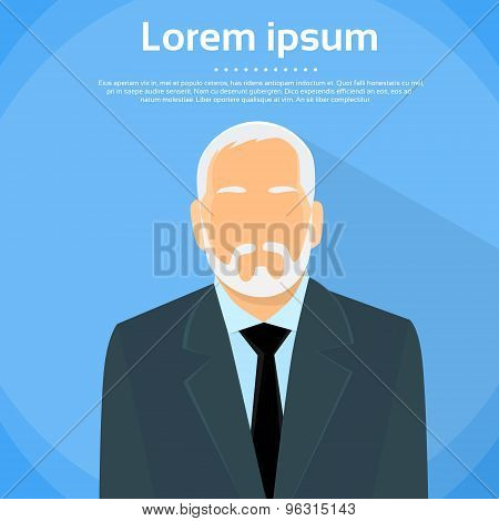 Senior Businessman Boss Business Owner Flat Profile Icon