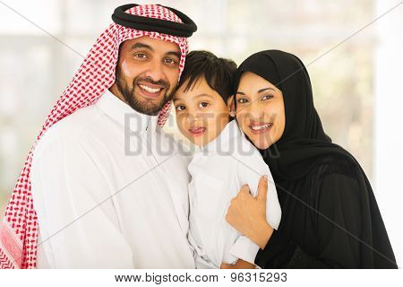 portrait of happy middle eastern family