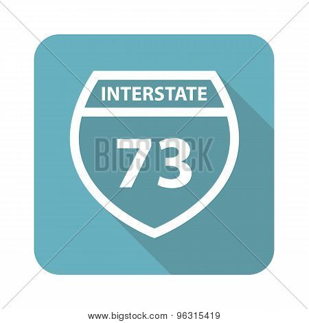 Square Interstate 73 icon