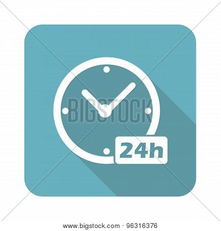 Square 24h workhours icon