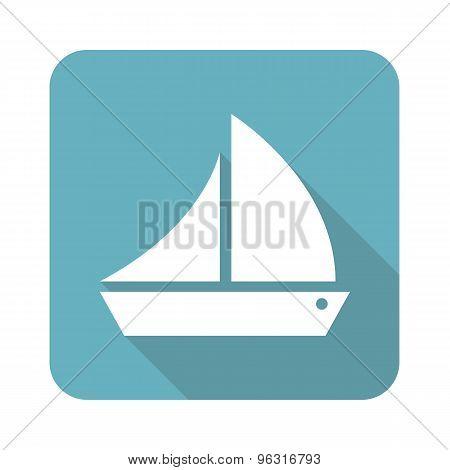 Square sailing ship icon