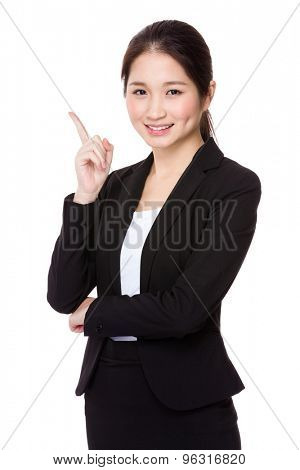 Asian Businesswoman with finger up
