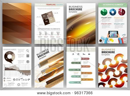 Set Of Abstract Technology Backgrounds And Concept Infographics