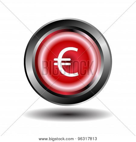 Euro button vector. Euro Sign icon vector