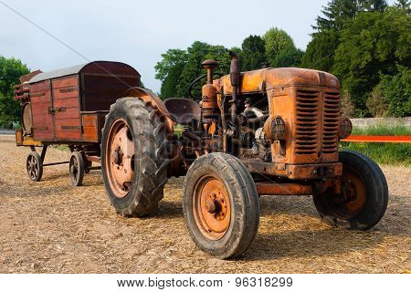 Tractor With Farm Wagon