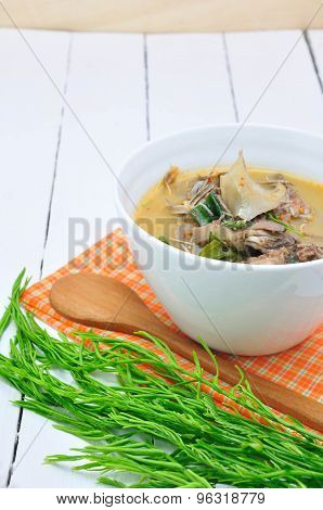 Thai Food, Banana Flower Curry.