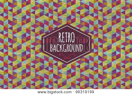 Trendy retro background.