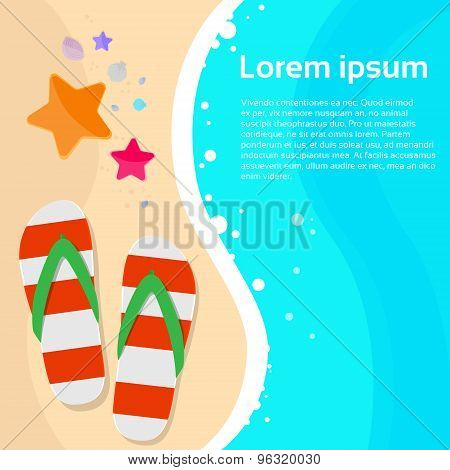 Summer Marine Beach Flip-flops Sand Sea Star Starfish