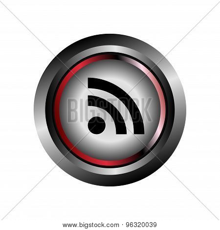 Feed sign button vector design eps template