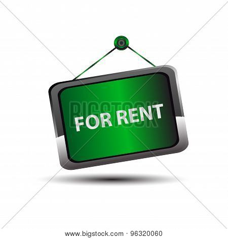 For rent icon sign vector design illustration template