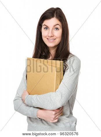 Woman hold with document work