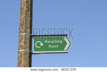 Recycle point sign