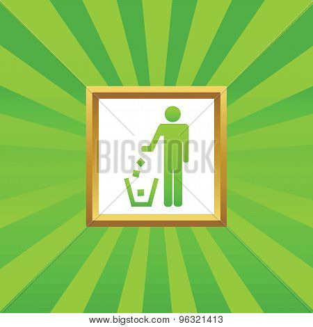 Recycling picture icon