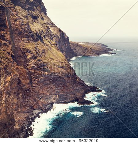 Coast Of Tenerife Near Punto Teno Lighthouse, Canary Islands