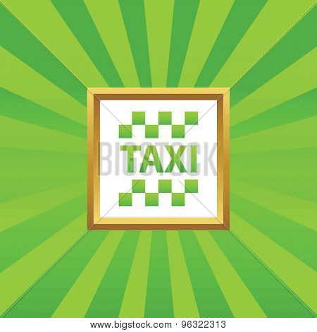 Taxi picture icon