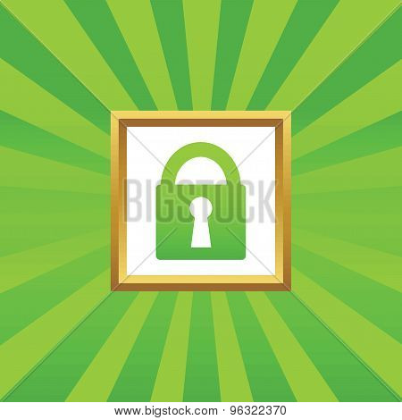 Locked picture icon