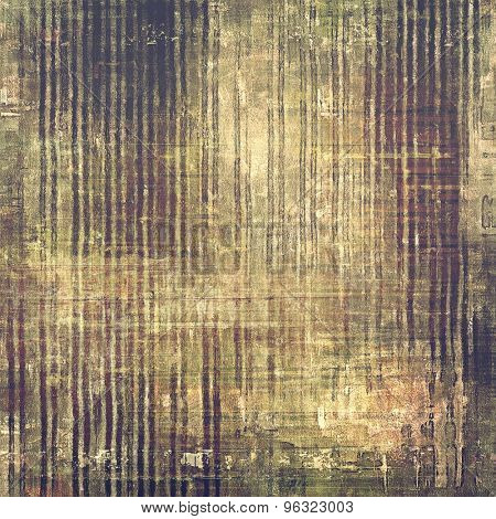 Grunge texture with decorative elements and different color patterns: yellow (beige); brown; gray; purple (violet)