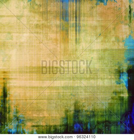Old abstract grunge background, aged retro texture. With different color patterns: yellow (beige); brown; green; blue