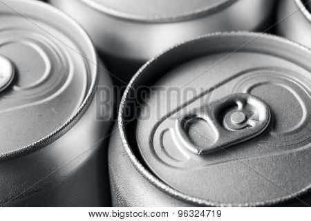 Refreshing cans of soda