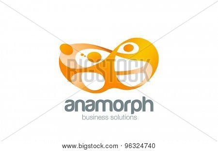 Teamwork Logo design vector template. Social community team network. Friendship Logotype. Teamwork co-working concept icon.