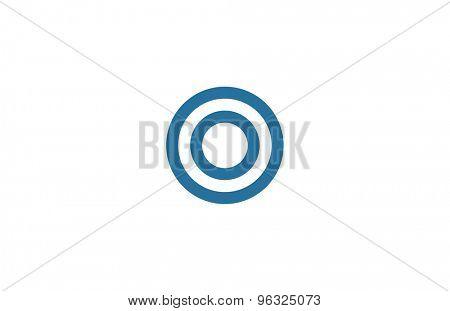 Letter O Logo vector design element template. ABC concept type as logotype. Typography icon line art alphabet