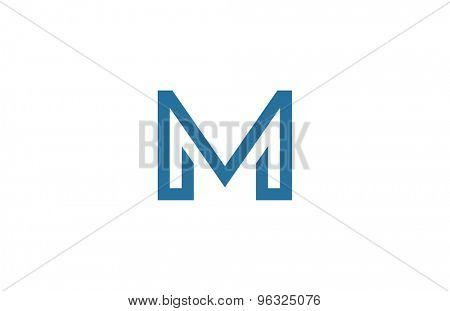 Letter M Logo vector design element template. ABC concept type as logotype. Typography icon line art alphabet