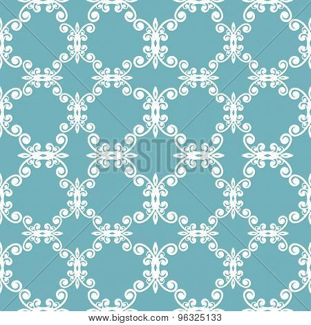 blue curves seamless pattern