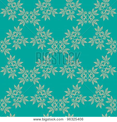 floral blue seamless pattern